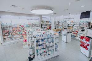 Interior farmacia Vallecas