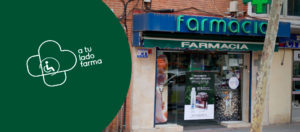 Exterior farmacia en Vallecas